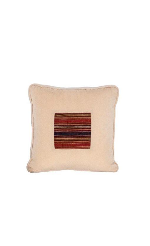 Chenille Kilim Patchwork Cushion