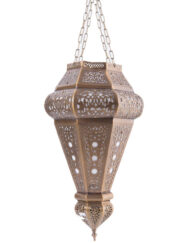 Moroccan Brass Pendant Lantern Filigree