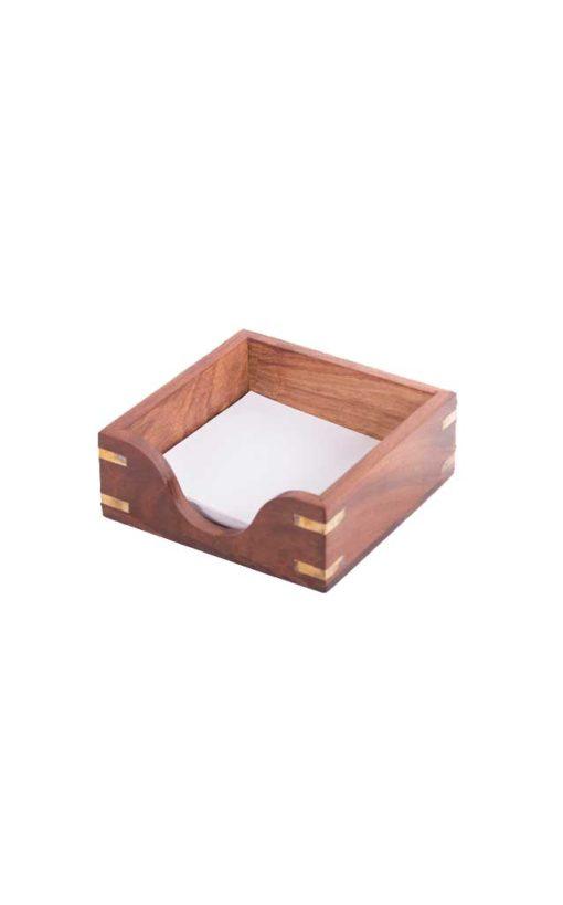 Wooden Memo Pad Holder