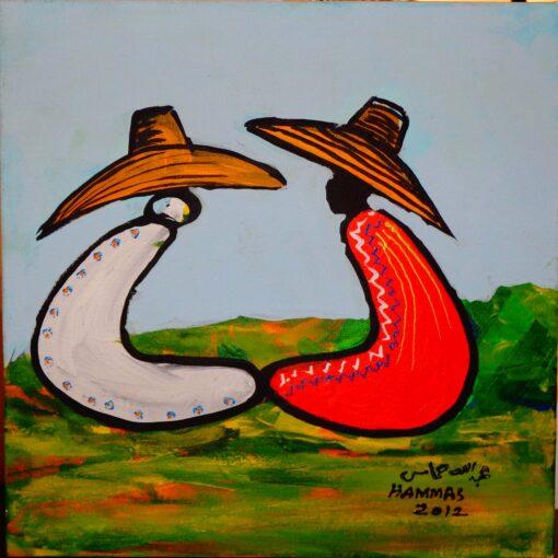 Abdullah Hammas, Acrylic on Canvas, 30cms x 30cms