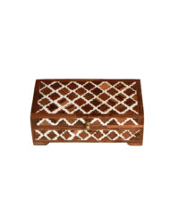 Arabesque Pattern Bone Inlay Wooden Box