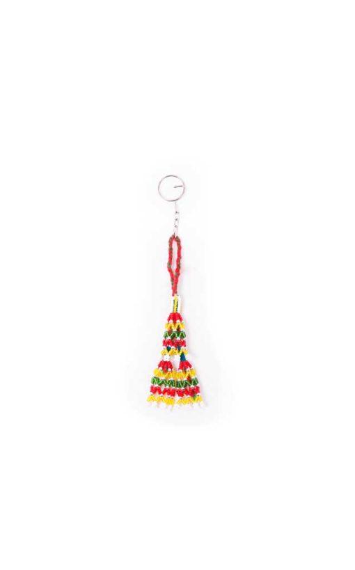 Handmade Beaded Bedouin Tassel Keychain