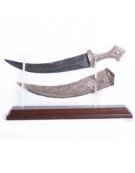Saudi silver gilt dagger - janbiya