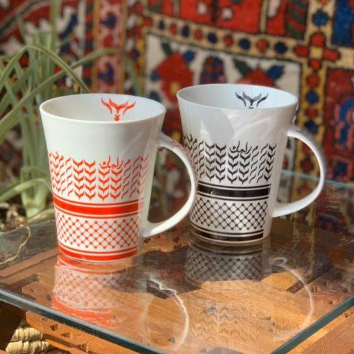 Ceramic Art Mugs Shemagh Design