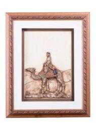 Leather Camel Art Custom Framed