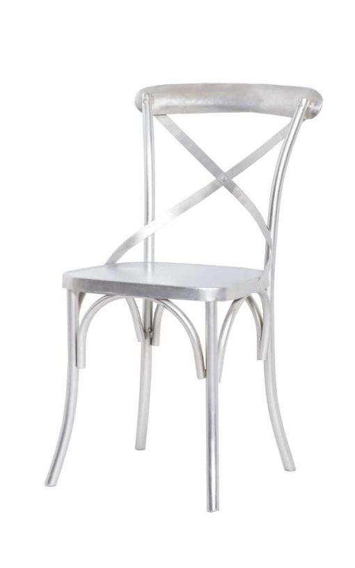 Metal Chair Silver Finish