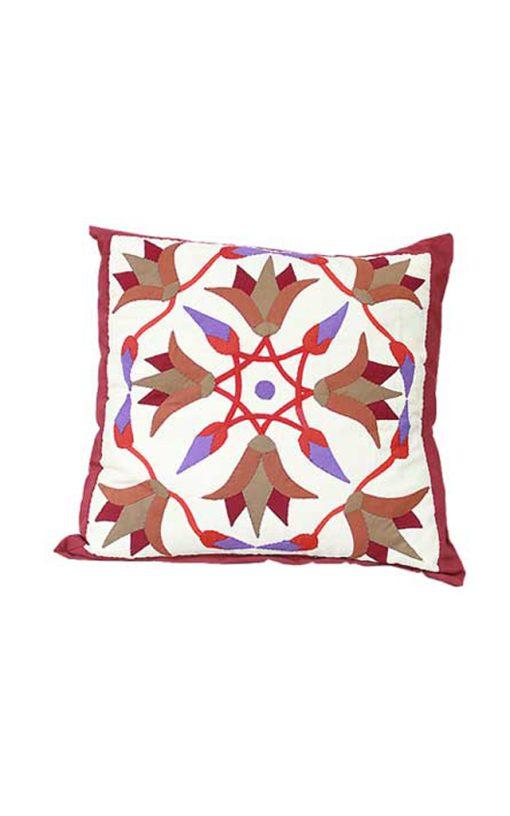 Square Patchwork Pillow 'Khayamiya' Style