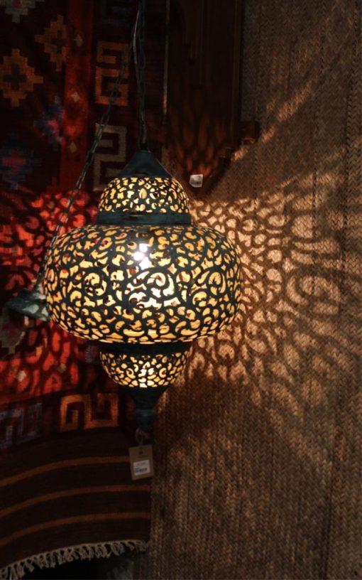 Brass Moroccan Hanging Lamp