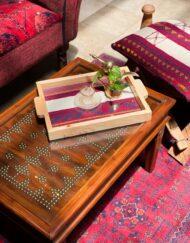Custom Tray Wooden Sadu White Finish
