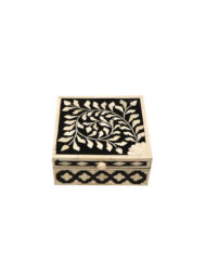 Bone Inlay Box Leaf Design