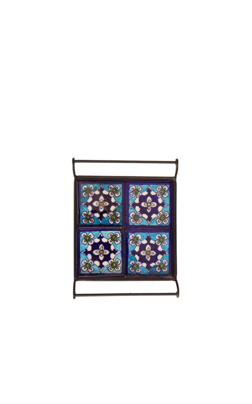 Ceramic Tile Inlay Serving Tray