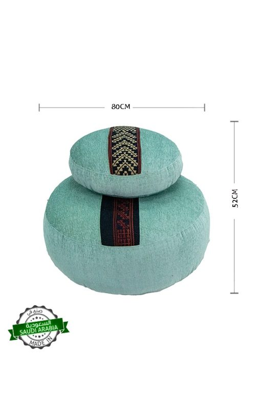Upholstered Round Ottoman Two Piece Set