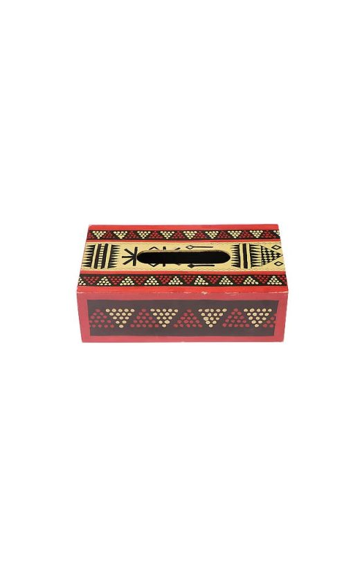 Hand Painted Wood Tissue Box