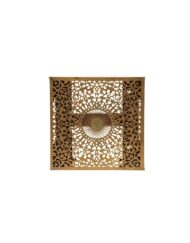 Brass Square Sconce Filigree