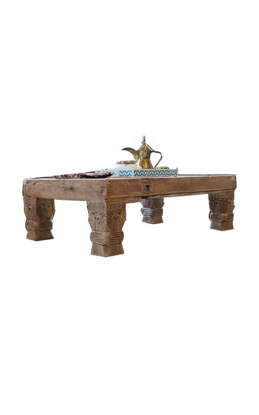 Carved Leg Coffee Table