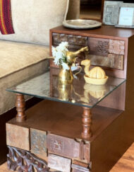 End Table Wood Naksh Design