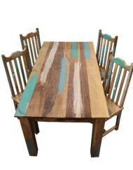Dining Table Wooden Painted