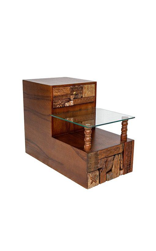 End Table Wood Naksh Design