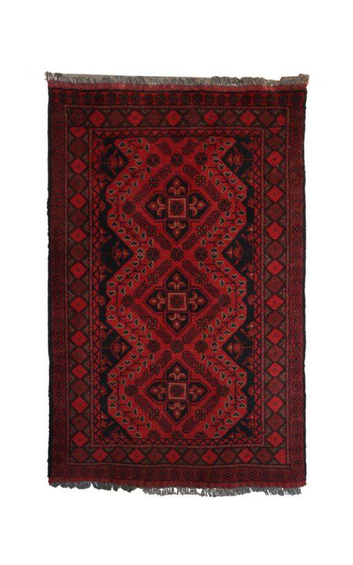 Afghan Handwoven Carpet Vintage