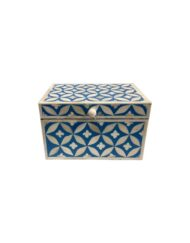 Bone Inlay Box Geometric
