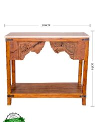 Handcrafted Carved Console Table