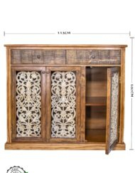Sideboard Wood Wrought Iron Grill