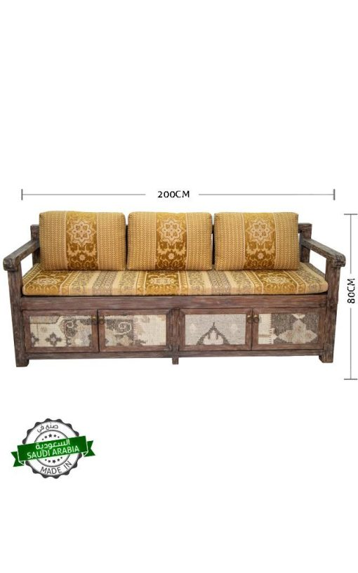 Bench Wooden Distressed Finish