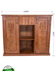 Cabinet Wooden Teak Carved Door Panels