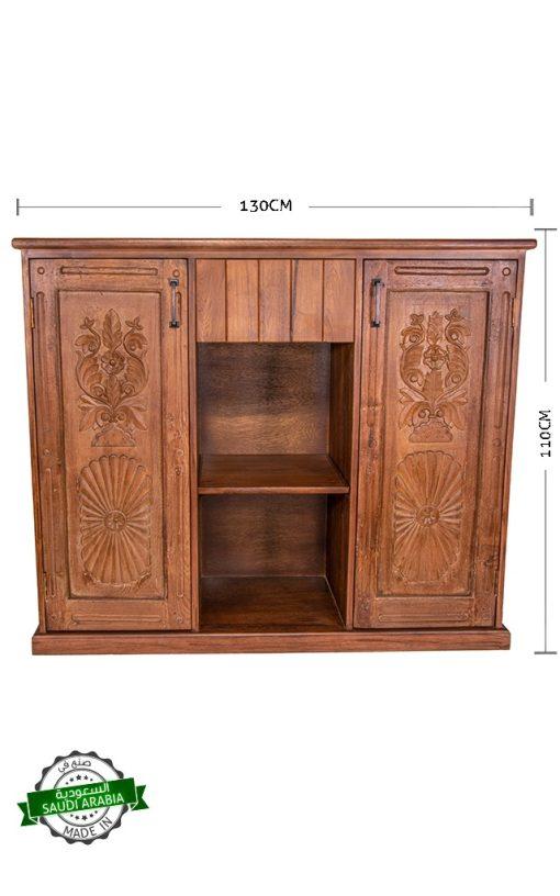 Cabinet Wooden Teak Carved Door Panels
