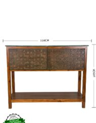 Wooden Console Table Carved
