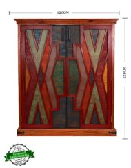 Cabinet Painted Lattice Design Sadu Inspired
