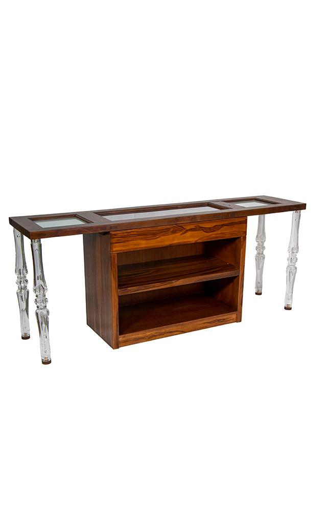 Console Table Wooden Acrylic