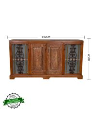Sideboard Wooden Iron Railings