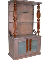Wooden Carvings Bookshelf Cabinet