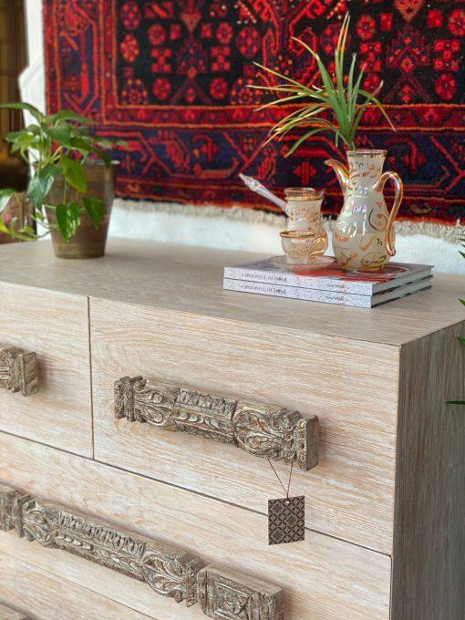 Distress Finish Wood Cabinet