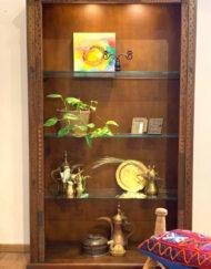 Bookshelf Wooden Glass Mosaic Collection