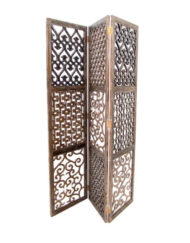 Wooden 'Mashrabiya' Partition Three Carved Panels