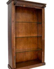 Wooden Glass Bookshelf Mosaic Collection