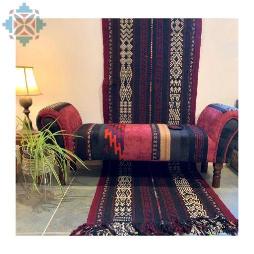Arabian Lounge Bench Sadu Chenille Design