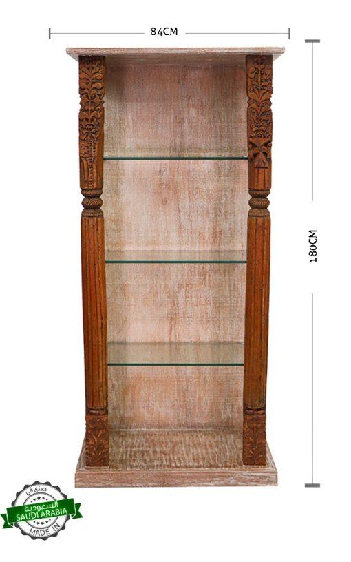 Wooden Antique Pillar Display Case