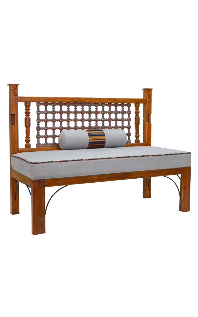 Recycled Teak Wood Bench At Desert Designs Only