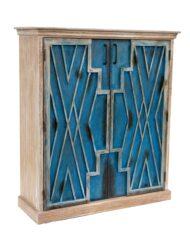 Sadu Inspired Painted Cabinet Lattice Design