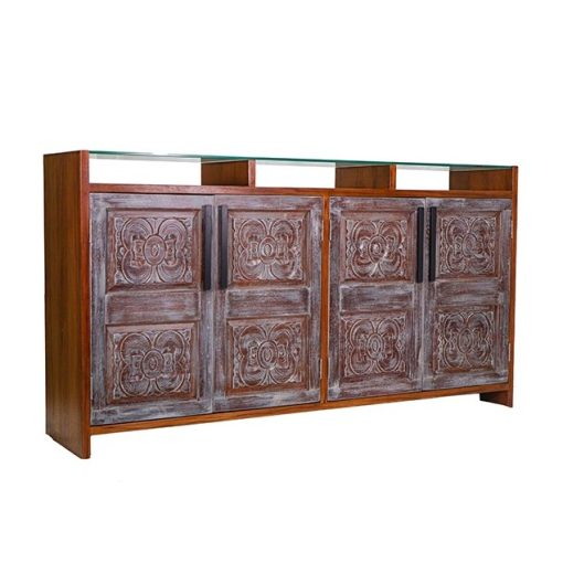 Solid Carved Wood Sideboard
