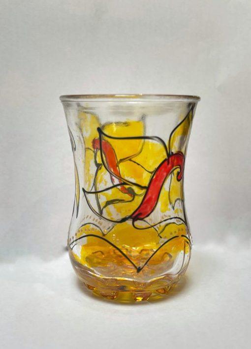Hand painted Tea Glasses