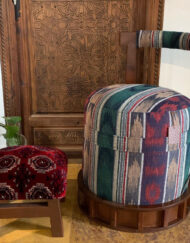 Custom Footstool Carpet Upholstery