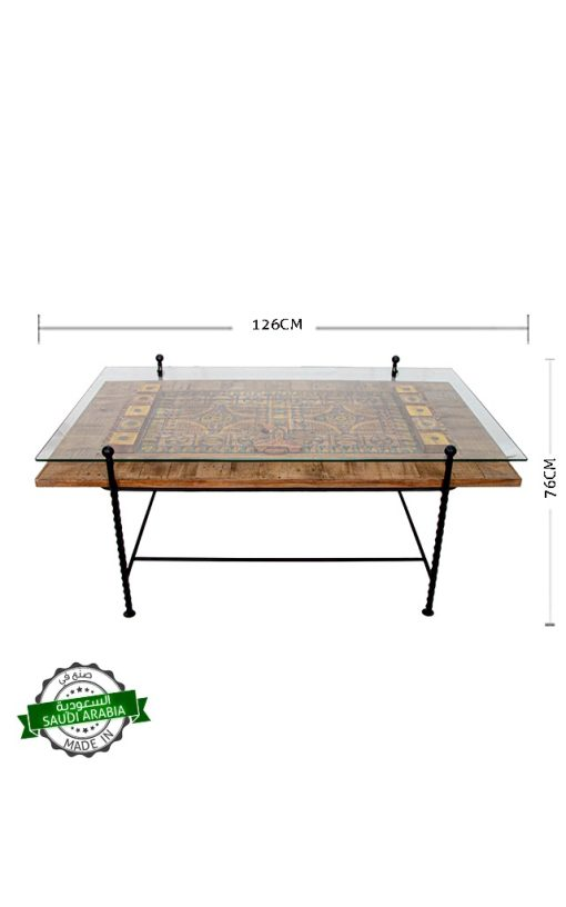Glass Top Coffee Table Handcrafted