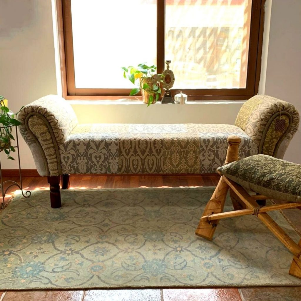 Kilim Lounge Bench Upholstered