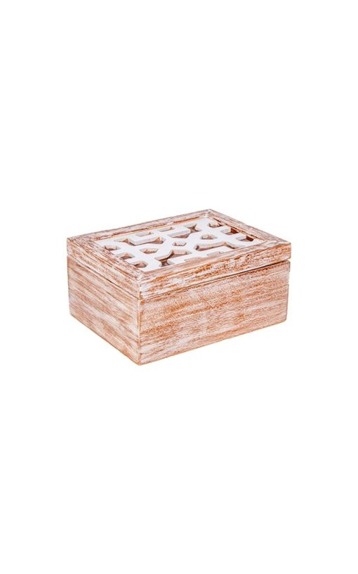 Carved Wooden Jewelry Box