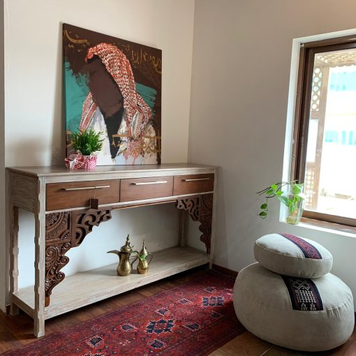 Old Carving Teak Console Table