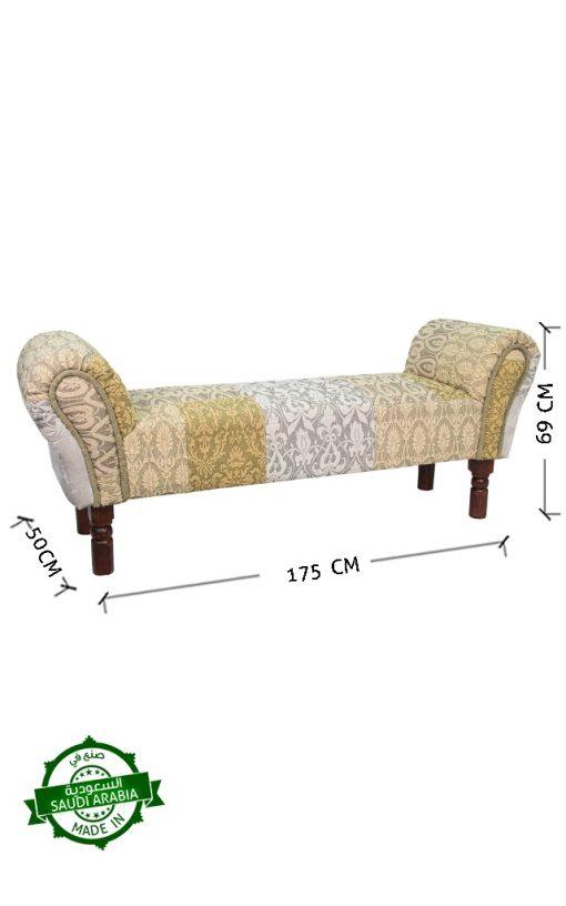 Kilim Lounge Bench Upholstered